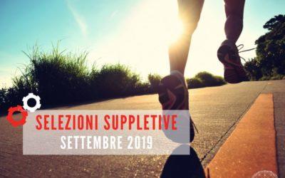 BIENNIO 2019-21: SELEZIONE SUPPLETIVA A SETTEMBRE