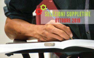 CORSI BIENNIO 2019-21: ULTIME SELEZIONI SUPPLETIVE AD OTTOBRE
