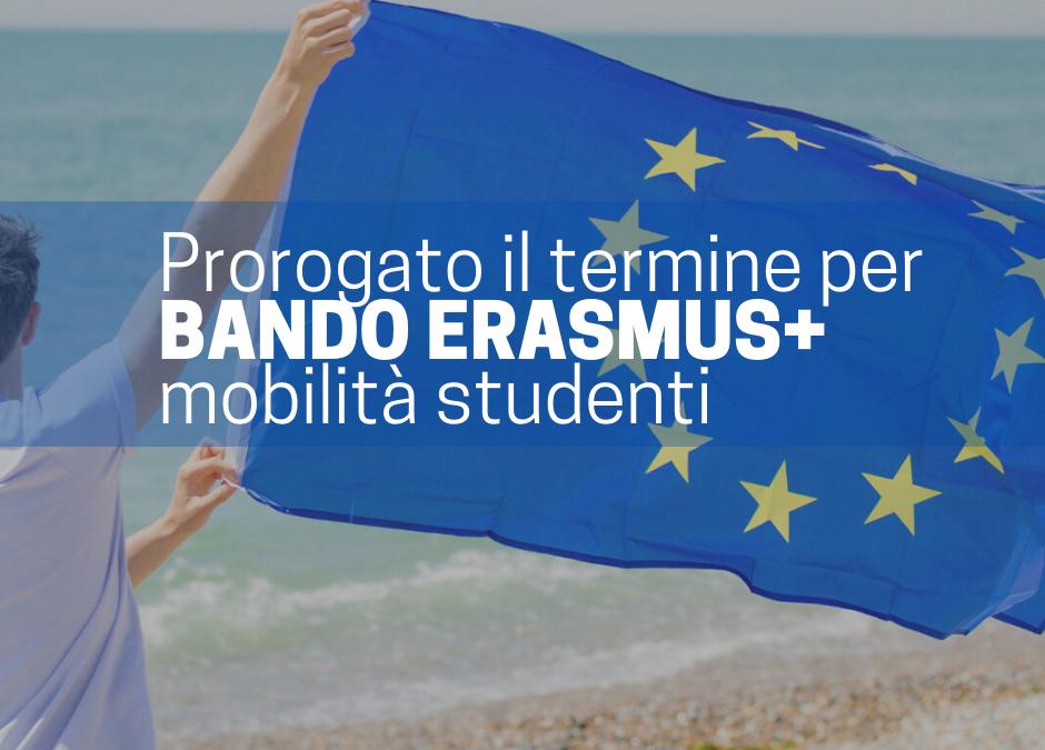 PROROGA TERMINI MOBILITÀ ERAMUS+ STUDENTI